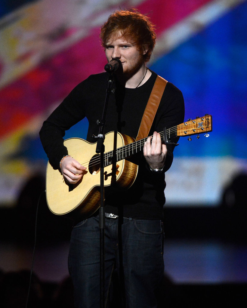 Ed Sheeran performed during the special night.