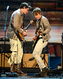 John Mayer and Keith Urban performed together.