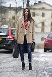 A riff on the classics with red, white, blue, and camel.  Source: Le 21ème | Adam Katz Sinding