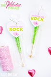 Rock Candy Valentine's Printable