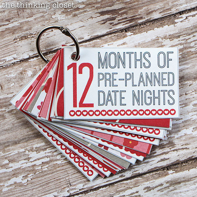 12 Months of Date Nights Printable
