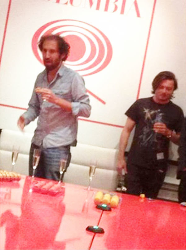 This photo — of the duo playing Champagne pong — went completely viral when The Knocks, a fellow electronic artist, posted it to their Facebook page. Even though they took it down almost immediately, it wasn't fast enough to keep it from making its way around the net. Source: Twitter user danishism