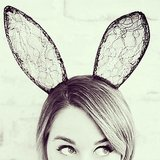 LC sported bunny ears. Source: Instagram user laurenconrad