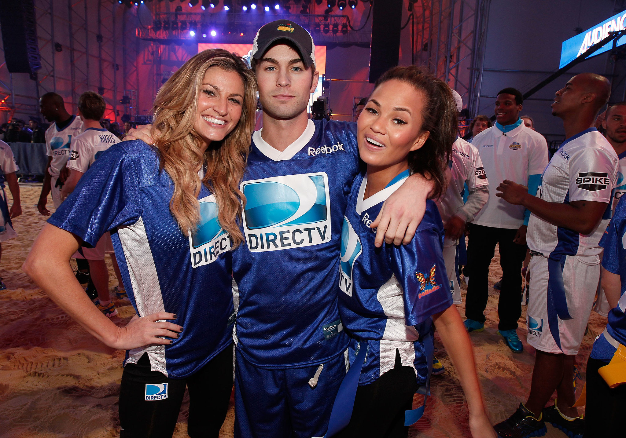 Chace Crawford hung out with teammates Erin Andrews and Chrissy Teigen at