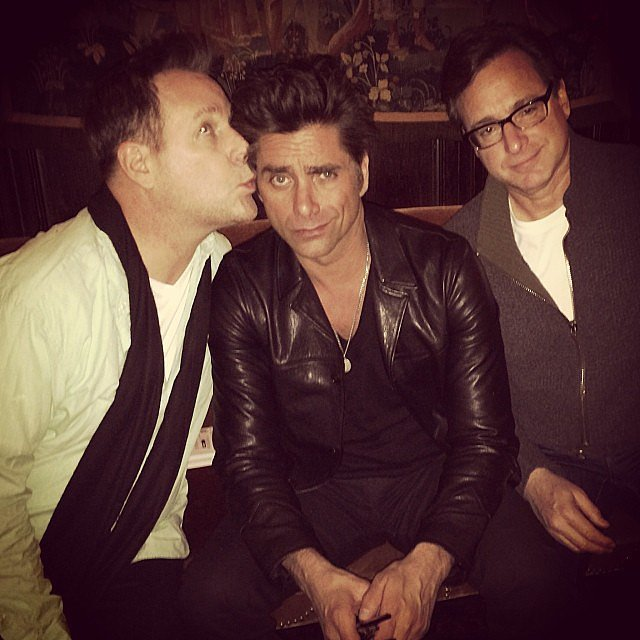 Dave Coulier and Bob Saget joked around with John Stamos during a night out in NYC on Tuesday. Source: Instagram user joh
