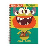 Mudpuppy Monsters Flip and Draw Book