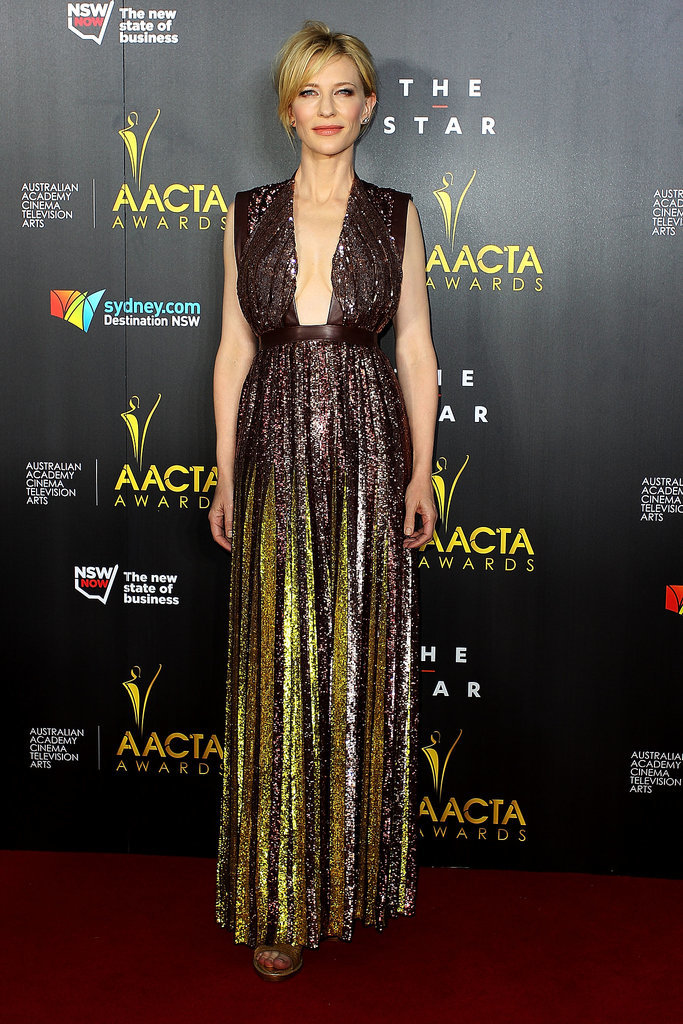 Cate Blanchett wore a jaw-dropping dress to the AACTA Awards in Sydney on Wednesday.