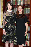 Michelle Dockery and Julianne Moore paired up to promote Non-Stop in London on Thursday.