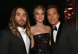 Jennifer Lawrence was a lucky lady at the SAGs — she got to pose with both Jared and Matthew McConaughey.