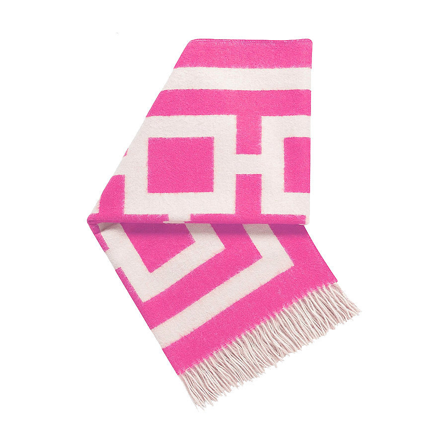 Using a pink throw ($295) for a pop of color is a great addition to any room and the perfect item to cuddle with.