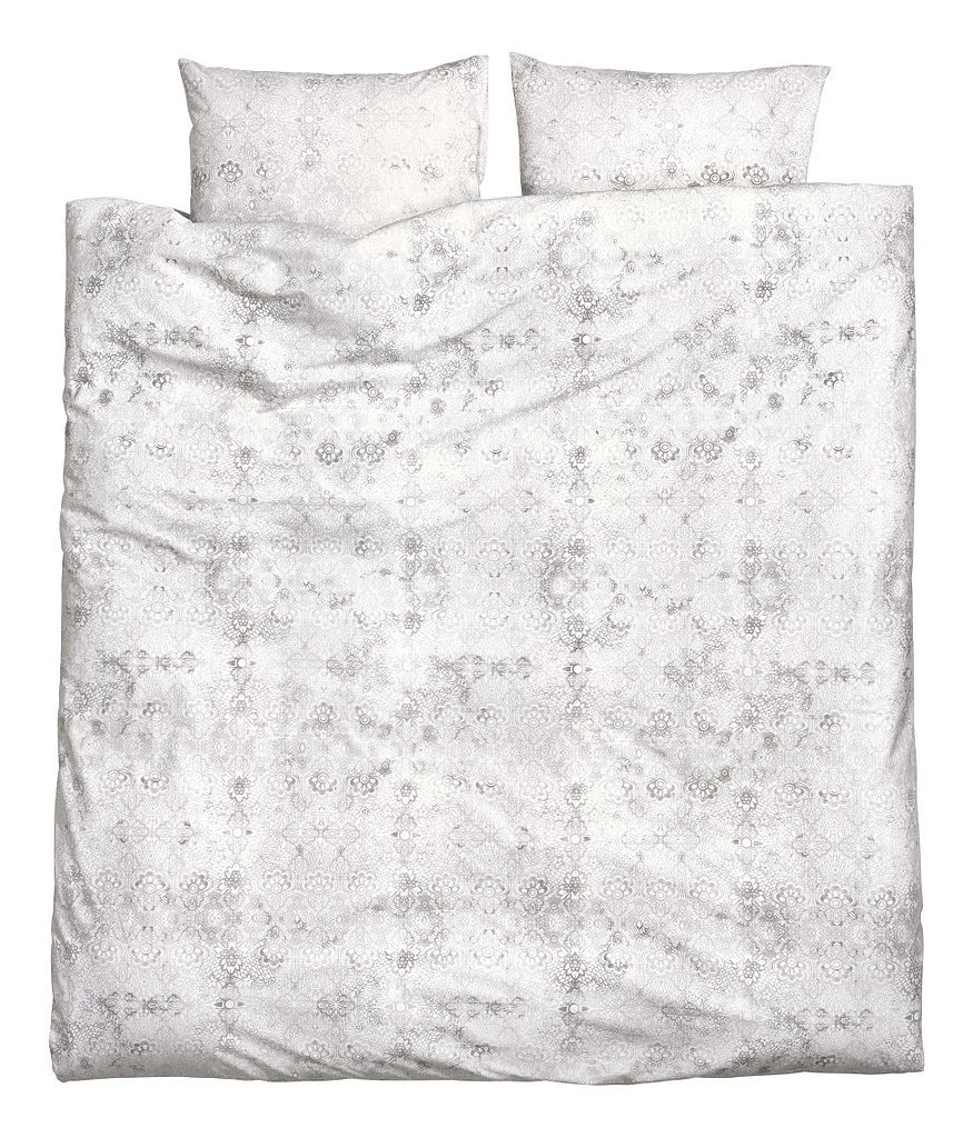Give your bedding a sweet, romantic touch with this floral duvet set ($50).