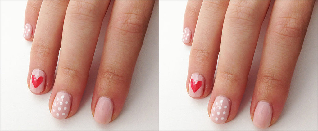 DIY This Easy Heart Nail Art Design for Valentine's Day