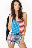 Nasty Gal American Flag Crop Top Tank