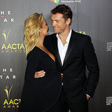 Sam Worthington Falls Off Stage at 2014 AACTA Awards