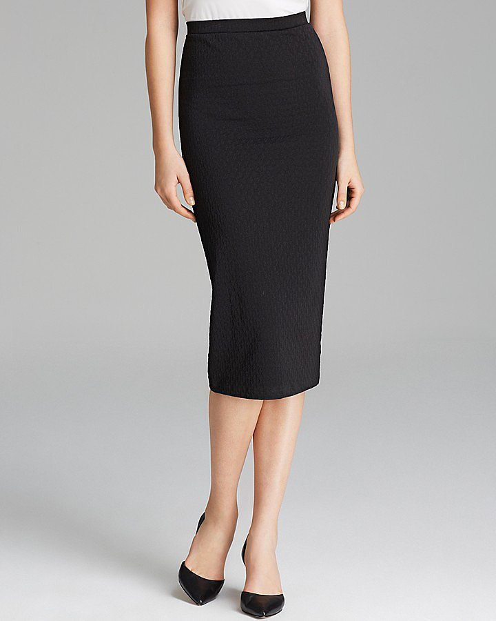 Aqua Black Pencil Skirt