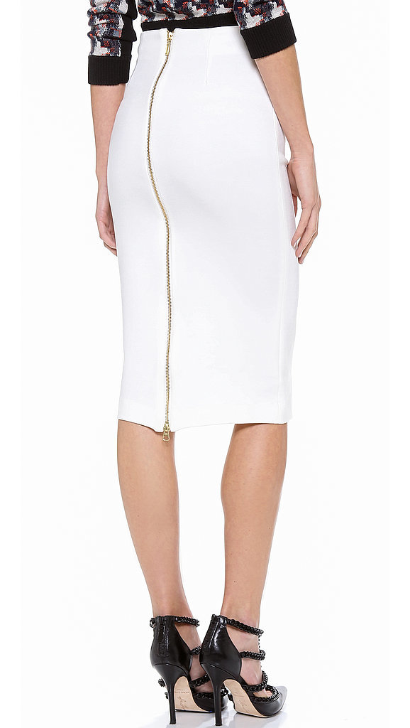 5th & Mercer White Pencil Skirt With Zipper
