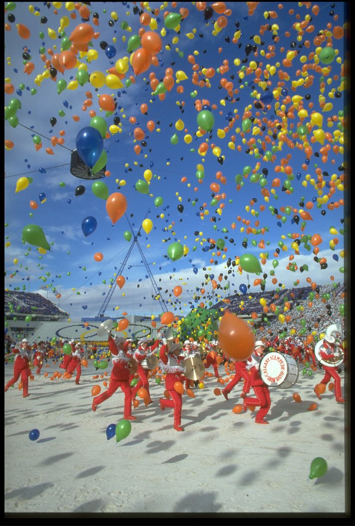 There were a whole lot of balloons.