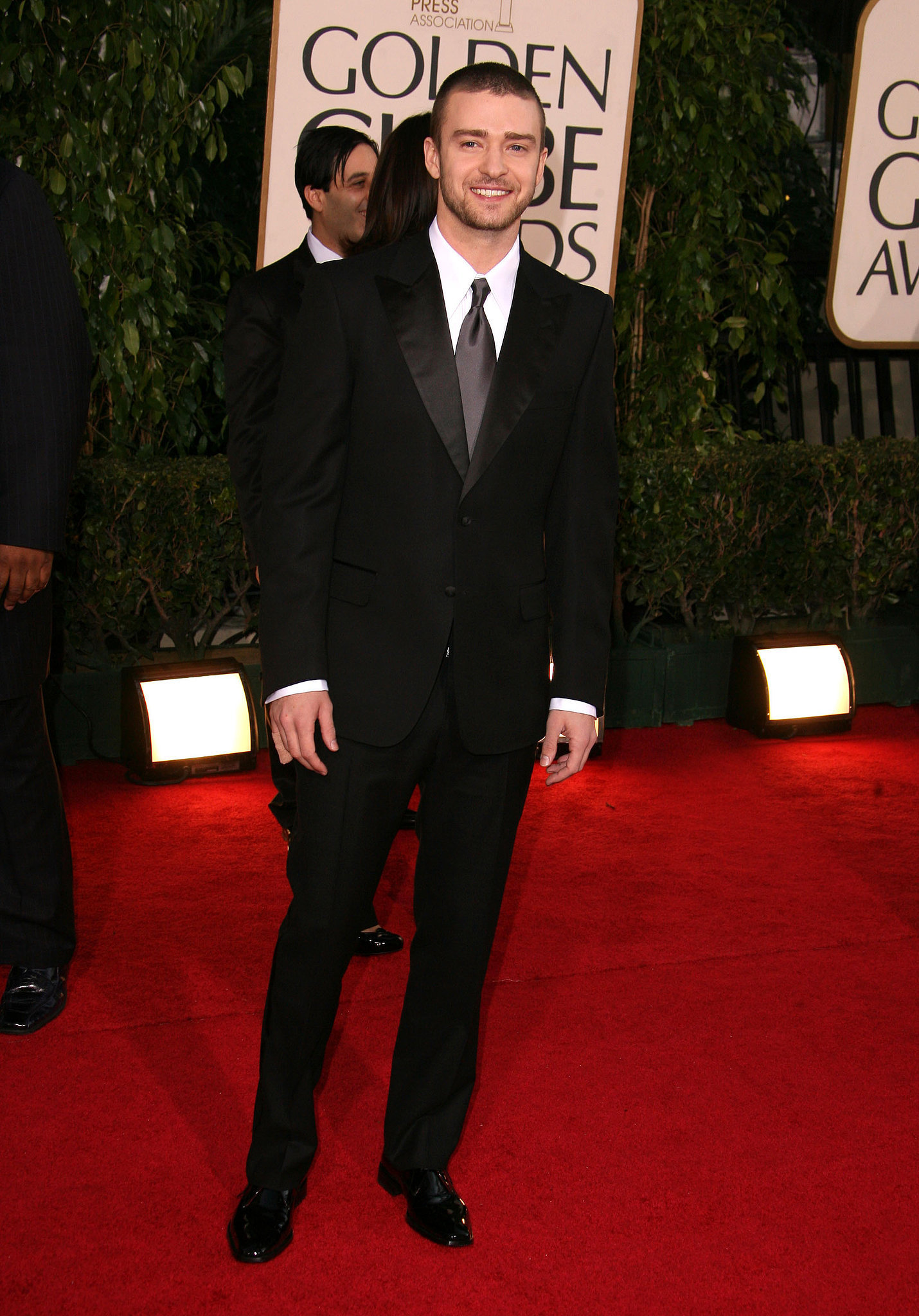 Justin was all smiles in a suit at the Golden Globes in 2007.