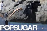 Cameron Diaz Takes the Plunge in a Tiny White Bikini