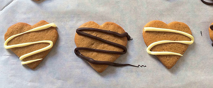You Will Heart These Peanut Butter Chocolate Cookies