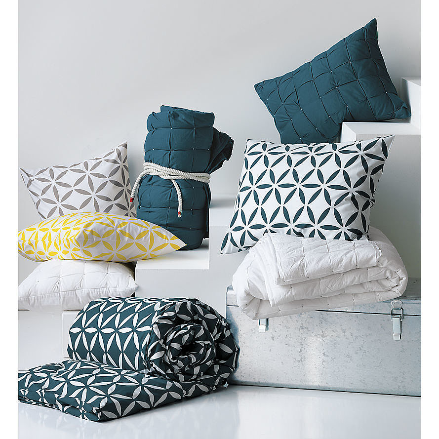 Inspired by classic tile patterns, Moroccan goes mod in this bedding set ($20-$90). Since the duvet is reversible, you'll get even more bang for your buck!