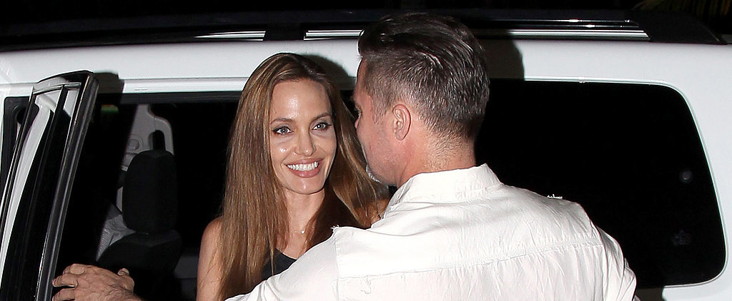 Brad Drops In on Angie's Big Wrap Party For Unbroken