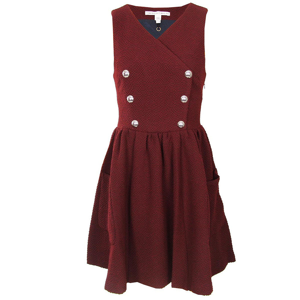 Boucle Snap Front Jumper Dress