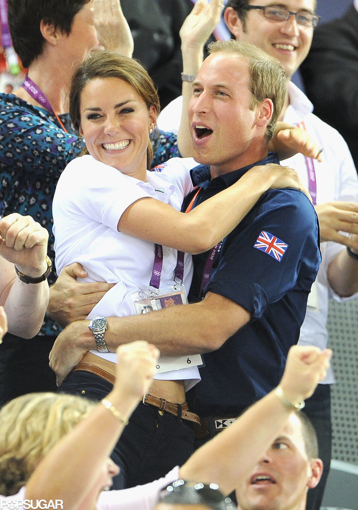 The two got excited during the 2012 Olympic Games in London.