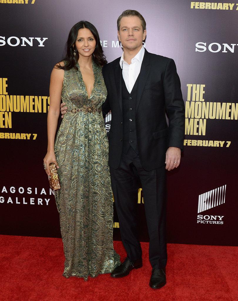 Matt Damon brought Luciana Damon as his date to the premiere.