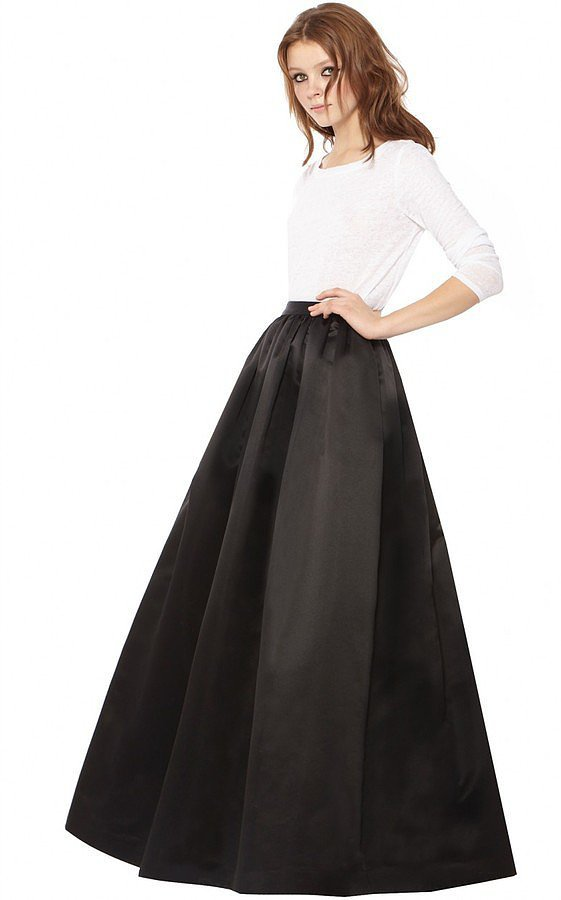 Alice + Olivia Tina Solid Long Ball Gown Skirt ($484)