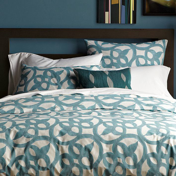 Printed in a whimsical blue pattern, this duvet set ($40, originally $89-$119) has a  fresh feel. Considering it's made from 100 percent organic cotton, it's a steal!