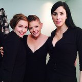 "For Lena Dunham, hanging out with Natalie Maines and Sarah Silverman was a ""life highlight."" Source: Instagram user lenadunham"