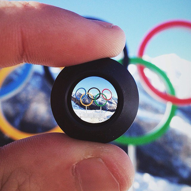 British Virgin Islands skier Peter Adam Crook took an original pic of the Olympic rings.  Source: Instagram user padamcrook