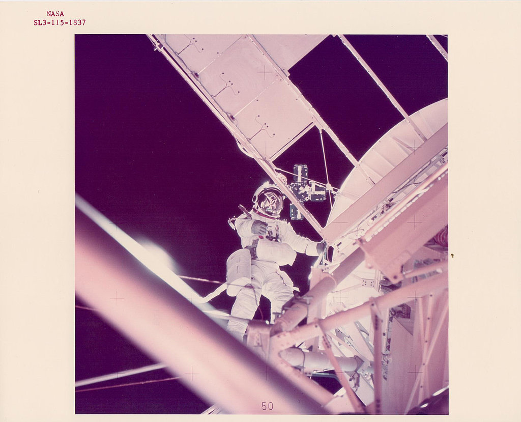 Owen Garriott Working Outside the Spacecraft
