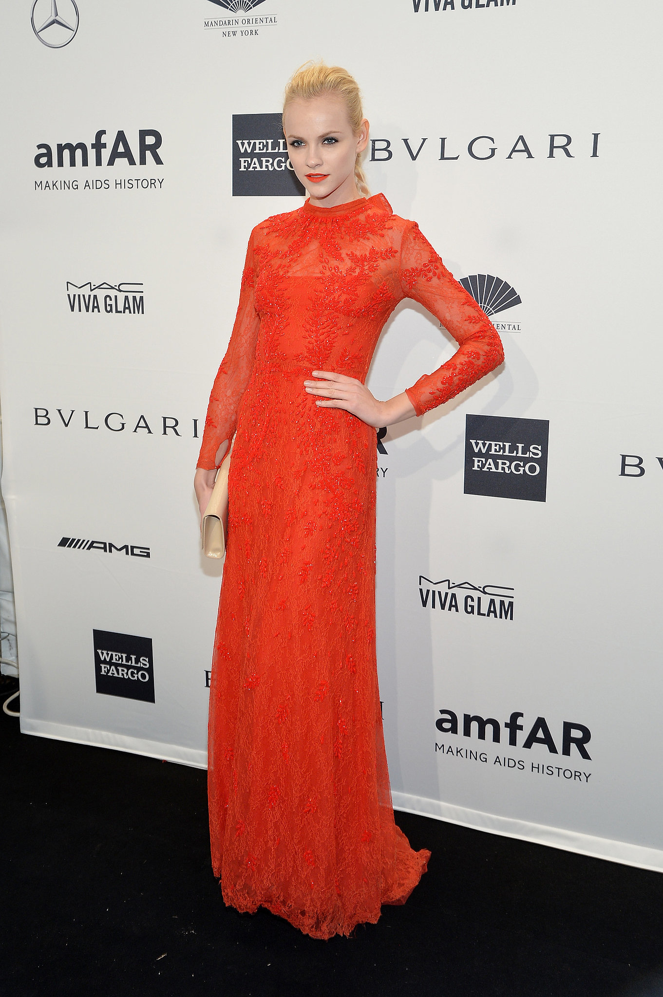 Ginta Lapina at amfAR's New York Gala.