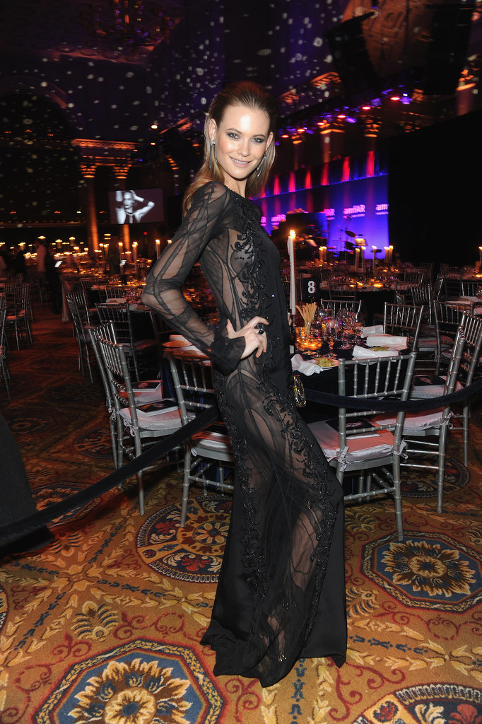 Behati Prinsloo at amfAR's New York Gala.
