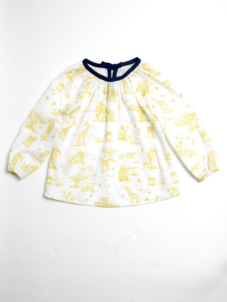 Yellow Toile Top