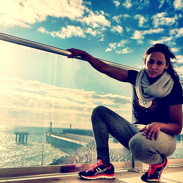 Summer and Winter Olympian Lolo Jones showed off the view from her room. 