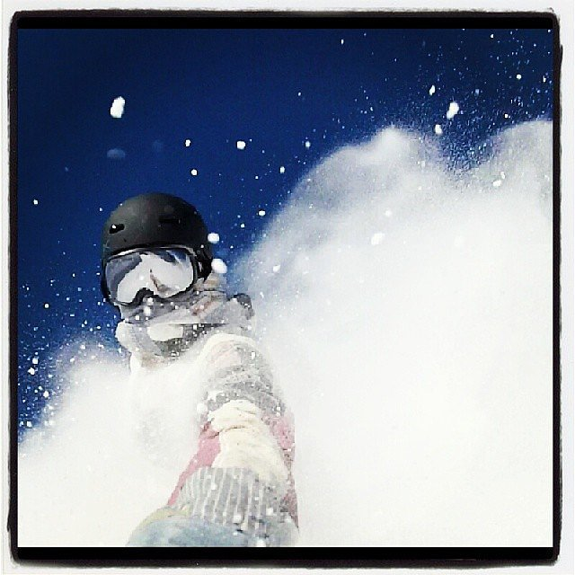 Snowboarder Kelly Clark took in the Sochi snow.   Source: Instagram user kellycarkfdn