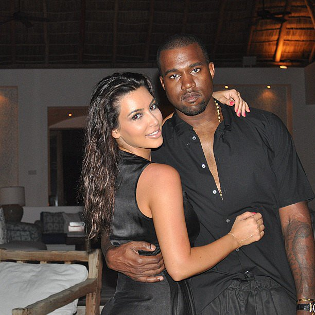 Kim shared an early picture with Kanye from their trip to Mexico. Source: Instagram user kimkardashian