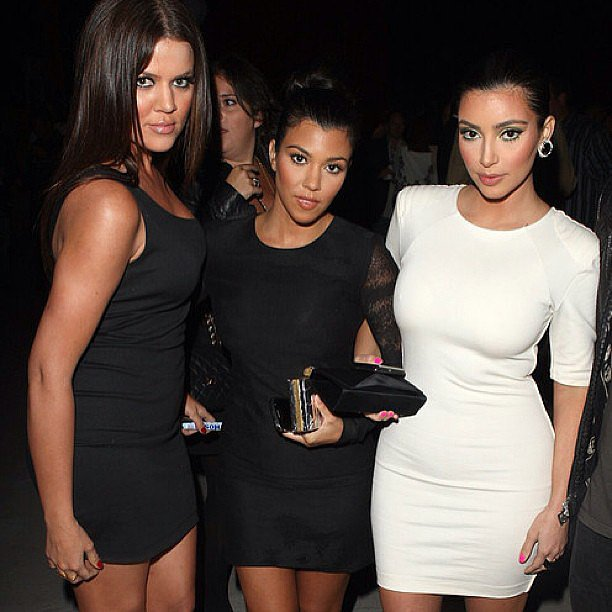 Kim flashed back to a dolled-up occasion with her siblings. Source: Instagram user kimkardashian