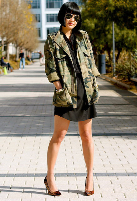 Congrats, Tina Phan of Phashionable! We can't camouflage our affection for this look.