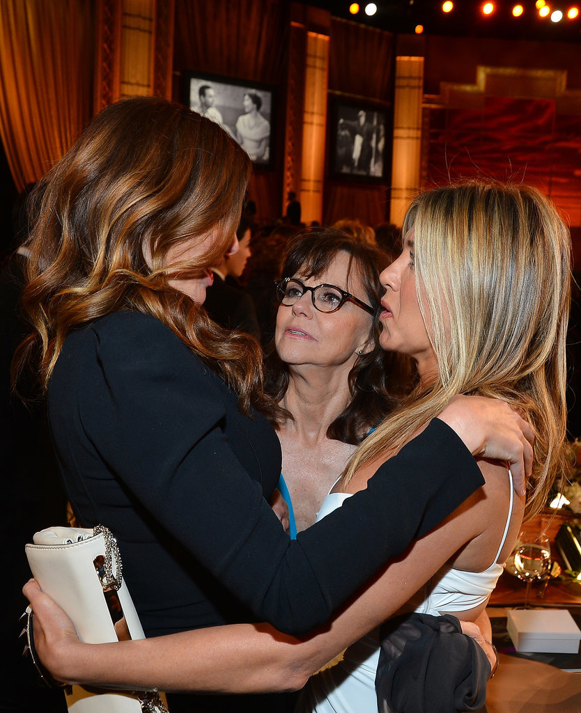She got caught in a three-way hug session with Julia Roberts and Sally Field at an AFI event in June 2012.