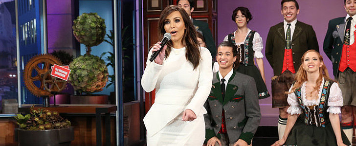 Here's Kim Kardashian Singing For Jay Leno's Last Show