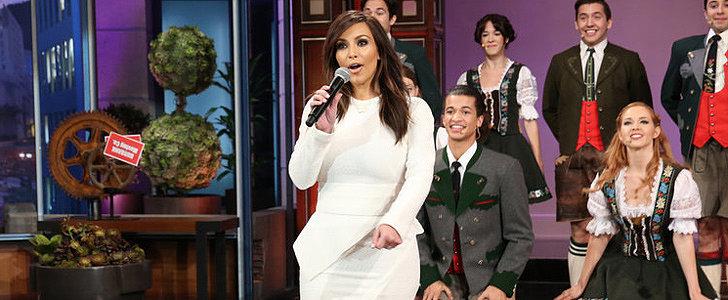 Here's Kim Kardashian Singing For Jay Leno's Last Show