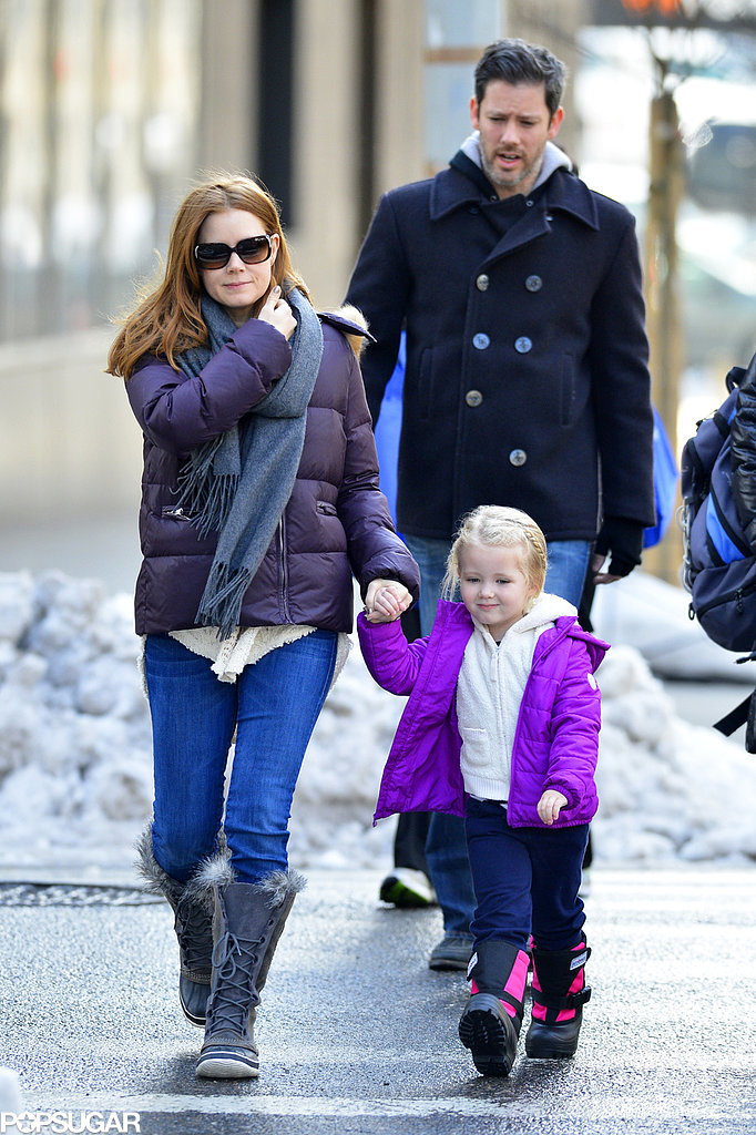 Amy Adams, Darren Le Gallo, and their daughter, Aviana, hit the streets of NYC on Thursday.