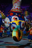 Performers in colorful costumes took center stage during the opening ceremony.
