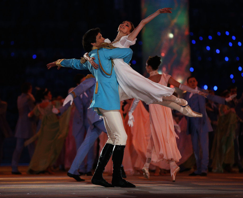 Dancers performed during the opening ceremony.