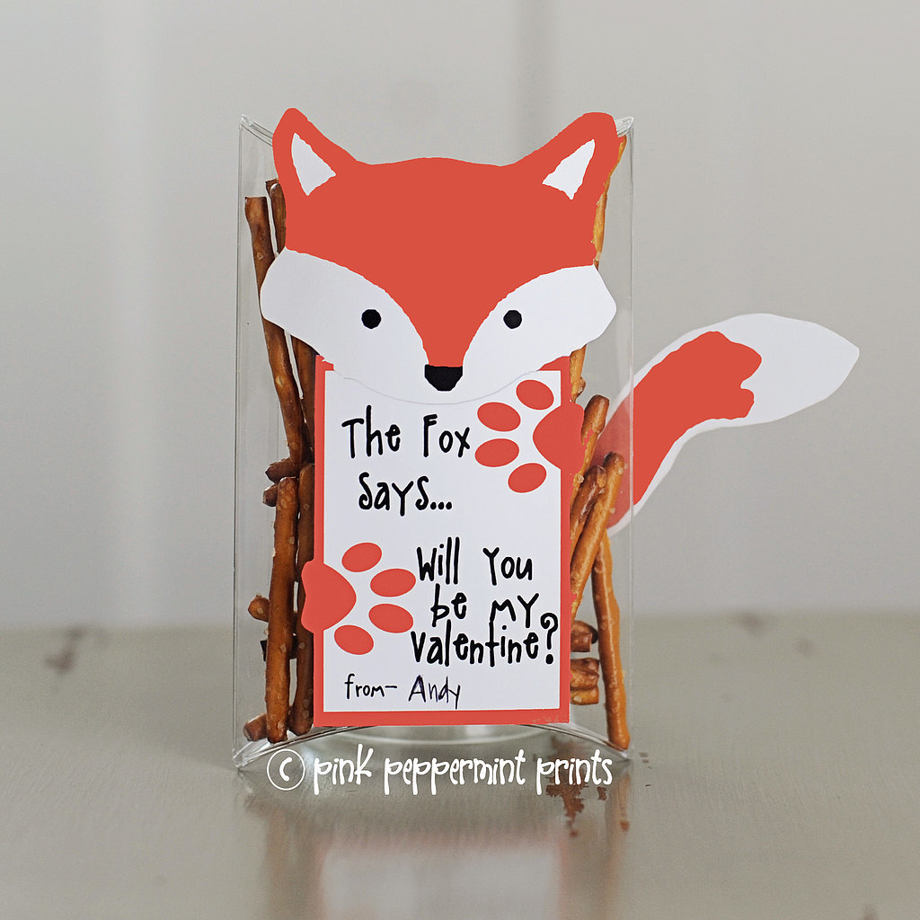 """What Does the Fox Say"" Valentine"