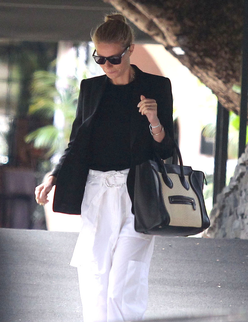 Gwyneth wore sunglasses on her way to the event.